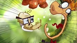 Совместное прохождение Rayman Origins 1 - Jibberish Jungle (Тарабарские Джунгли)