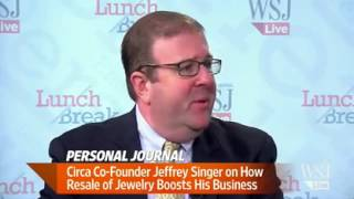 "CIRCA CO FOUNDER JEFFREY SINGER FEATURED ON THE WALL STREET JOURNAL LIVE ""LUNCH BREAK"""