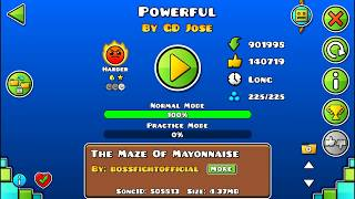 PowerFull by GDJose 100% Completed Geometry dash 2.11