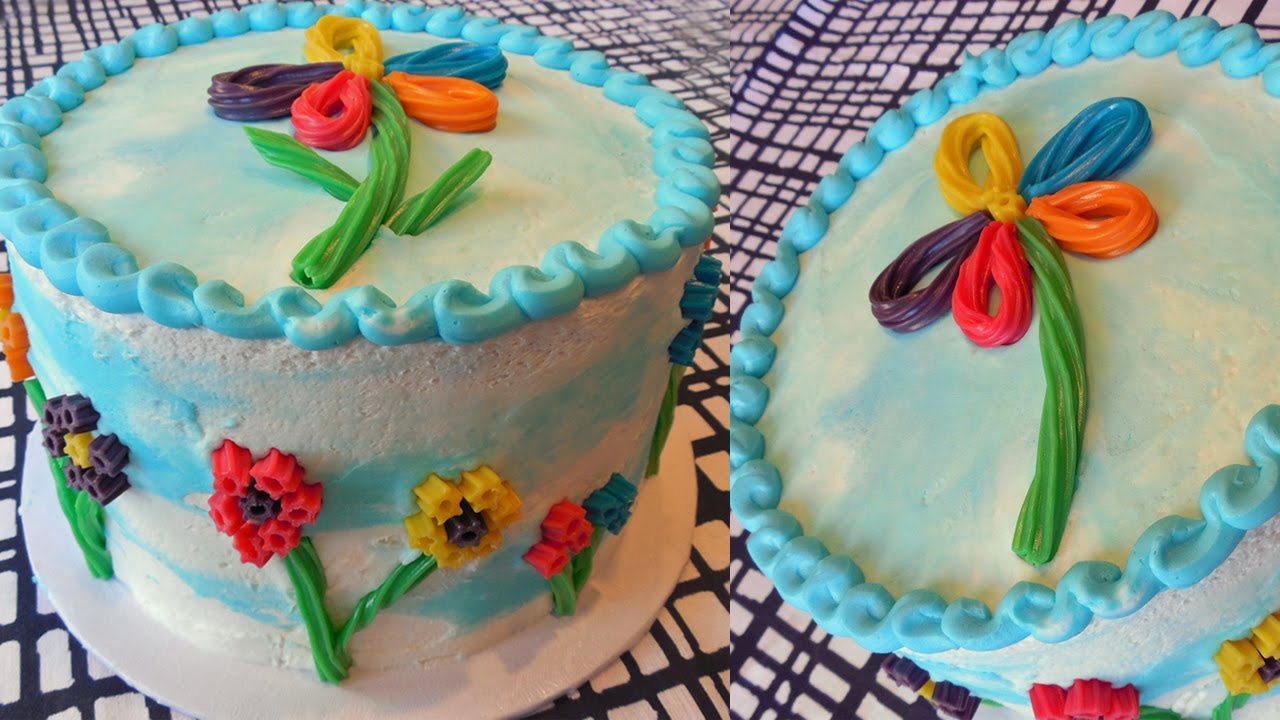 Simple to Make Flower Candy Birthday Cake with Jill - YouTube