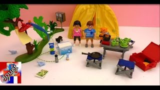 Playmobil camping paradis - Le terrain de camping Playmobil - les vacances avec la tente