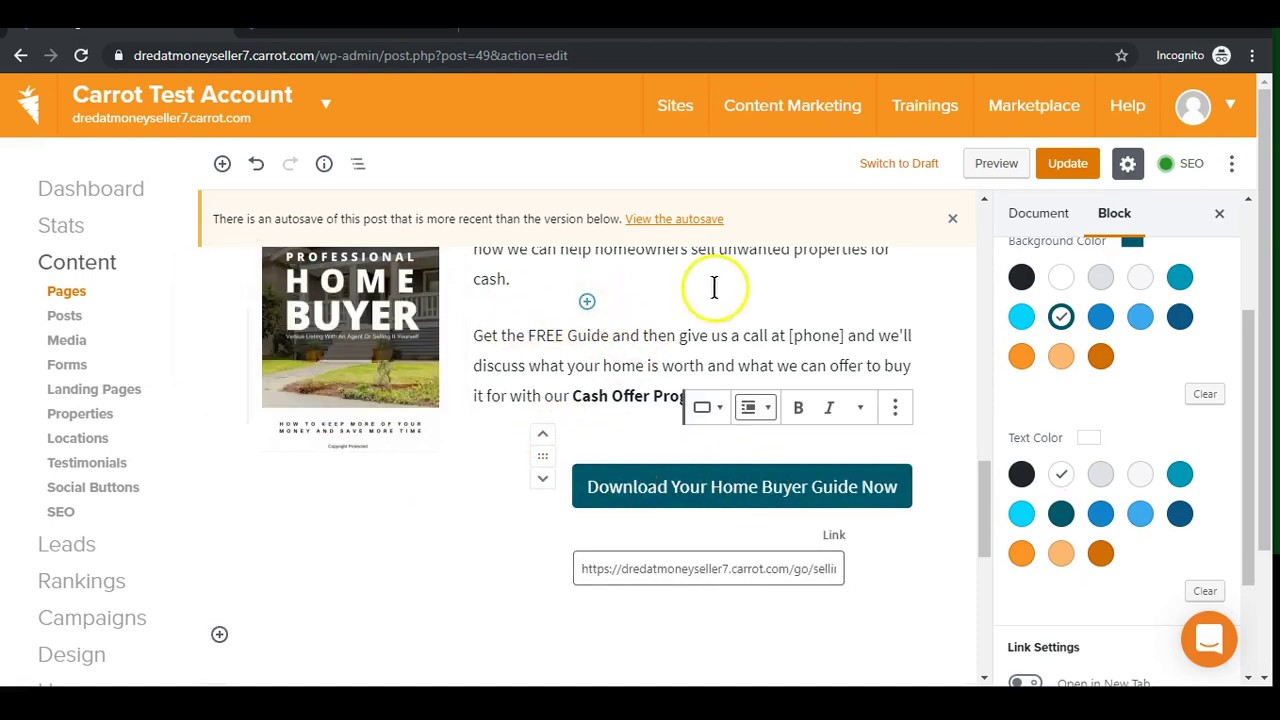 Add Buttons to Your Site Using Button Blocks