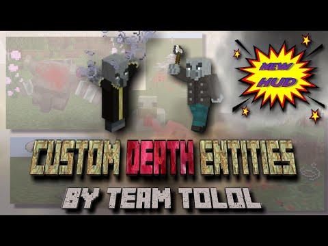 Custom Death Entities Animation Minecraft Addon Test Part #4