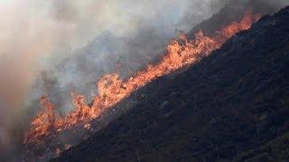 Sikerült a dél-kaliforniai erdőtűz egy részét megfékezni