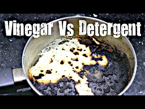 BEST WAY TO CLEAN A BURNT PAN | Vinegar Vs Detergent | Tips N Tricks | Kitchen Hacks | GKN Flicks