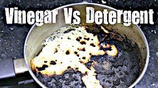 BEST WAY TO CLEAN A BURNT PAN | Vinegar Vs Detergent | Tips N Tricks | Kitchen Hacks | GKN Flicks