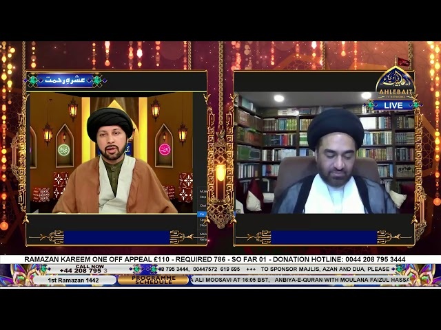 🔴 LIVE | Anbiya-E-Quran With Allama Syed Ali Raza Rizvi - Topic: Hazrat Adam (AS) - 1st Ramazan 2021