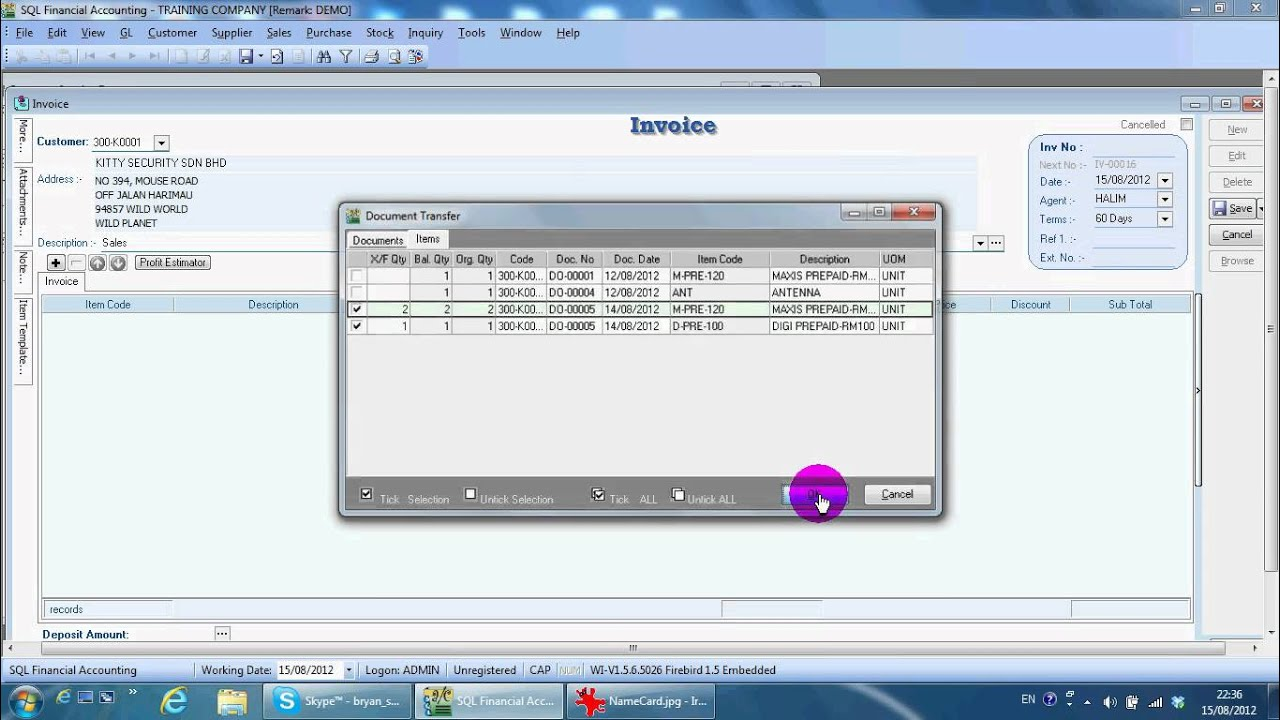 A Sales Invoice SQL Accounting Software YouTube - Invoice routing software
