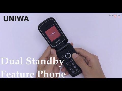 UNIWA X18 1 77 Inch 800mAh 0 08MP Rear Camera FM bluetooth Dual SIM Dual  Standby Flip Feature Phone