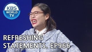 Refreshing Statements I 이런 사이다 [Gag Concert / 2018.09.29]