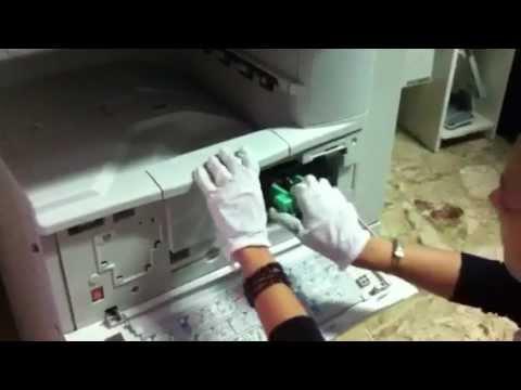 Sostituzione vaschetta recupero toner ricoh aficio
