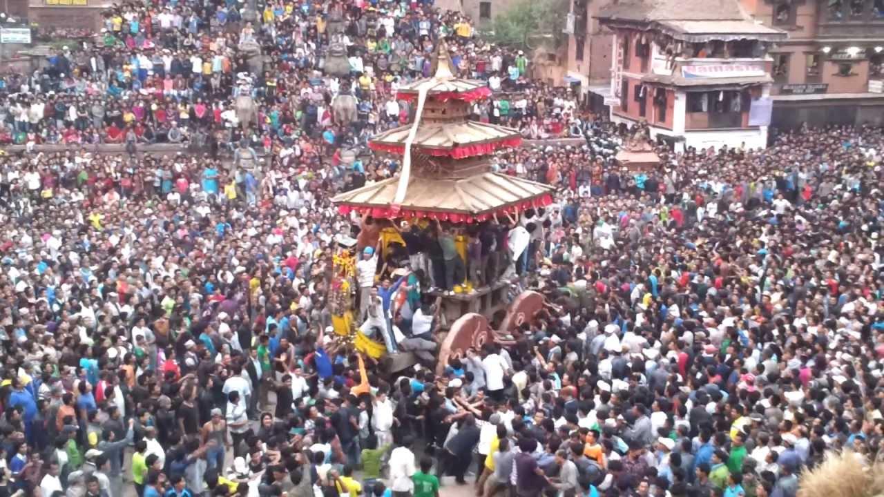 Sweta (white) Machhendranath Snan in nepal