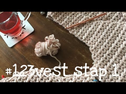 Iedereen kan haken© #123vest stap 1 how to crochet a singlet, (different languages subtitled).