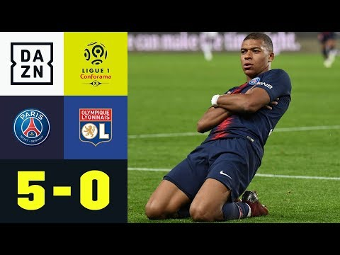 Kylian Mbappe mit Viererpack: PSG – Olympique Lyon 5:0 | Highlights | Ligue 1 | DAZN
