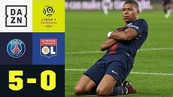In 13 Minuten! Kylian Mbappe mit Viererpack: PSG - Olympique Lyon 5:0 | Highlights | Ligue 1 | DAZN