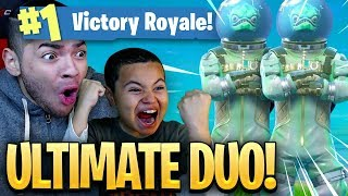 9 YEAR OLD BROTHER IS BACK! ULTIMATE DUO! *NEW* LEVIATHAN SKIN IS INSANE! Fortnite: Battle Royale!