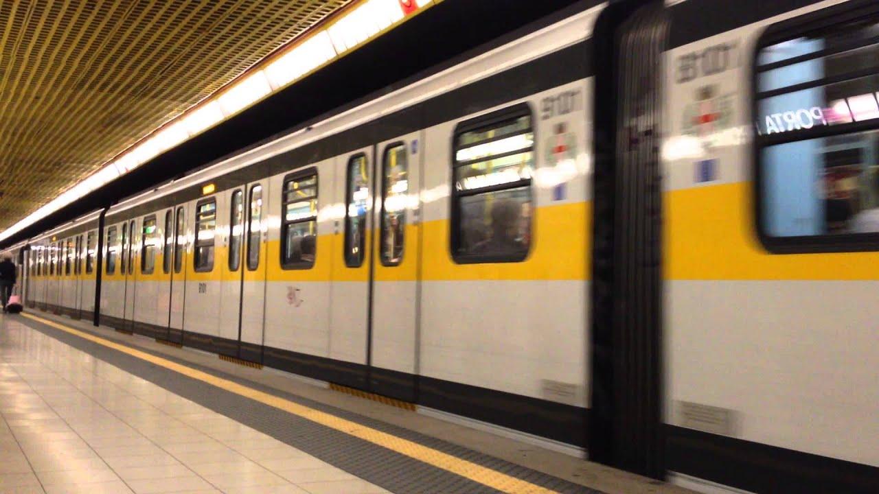 Metropolitana Milano - METRO LINEA GIALLA M3 - YouTube