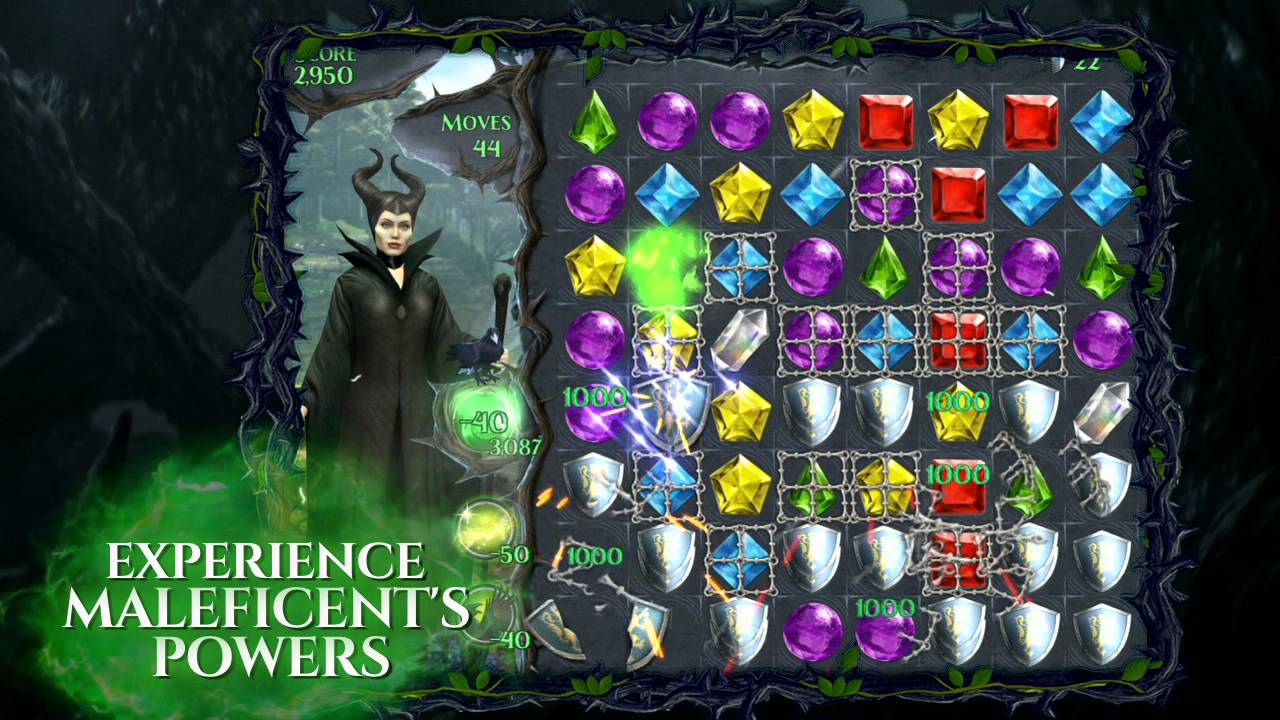 Maleficent Free Fall - by Disney - Puzzle Games Category - 6 Review