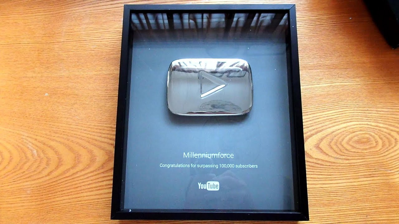 Silver Play Button