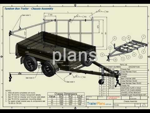 Trailer plans plan build save youtube malvernweather Gallery