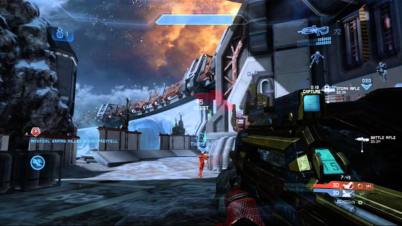 Halo 4 Multiplayer Gameplay 65 - Lockdown on Longbow ...