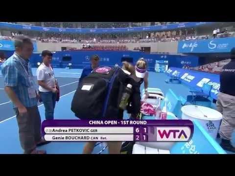 """VIDEO  – Bouchard in lacrime per il ritiro, la Petkovic: """"Le girava la testa"""""""