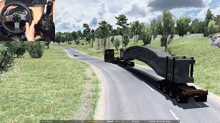 ✅ 100 Ton Heavy Concrete Arch Beam | Euro Truck Simulator 2 | Logitech G27 Gameplay