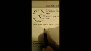 Saat Problemleri Pratik Çözüm