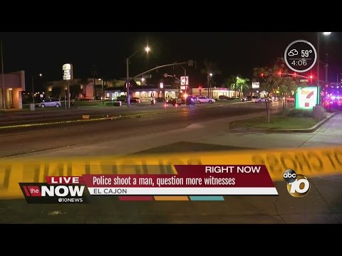 Knife-wielding man hospitalized & stable after El Cajon police shooting
