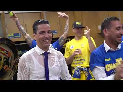 Maccabi Locker Room Celebration