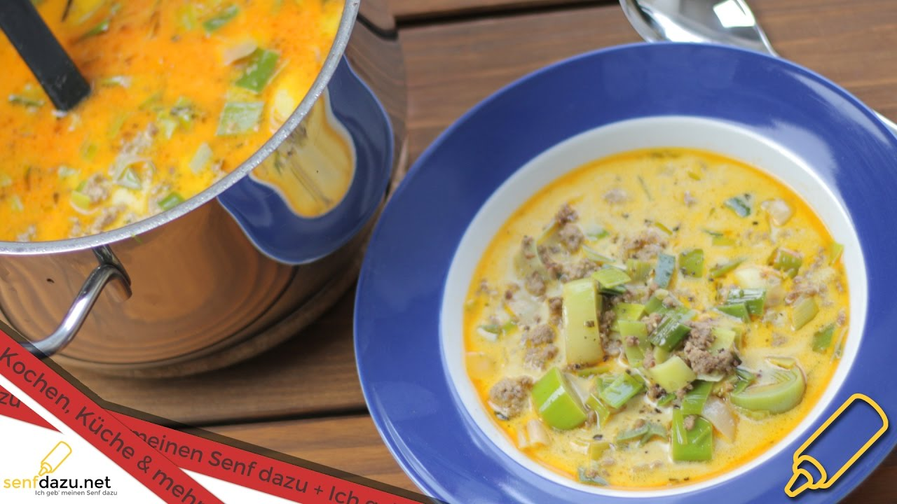 Porreesuppe / Käse Lauch Suppe reloaded - Rezept - Schnell, einfach ...