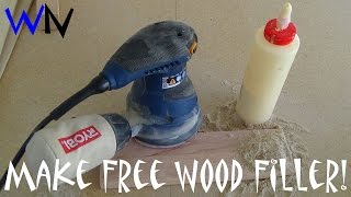 How to Make Free Wood Filler!
