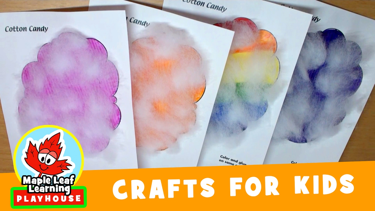 Cotton Candy Craft For Kids Maple Leaf Learning