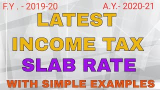 Income tax slab rate for f.y. 2019-20 a.y. 2020-21