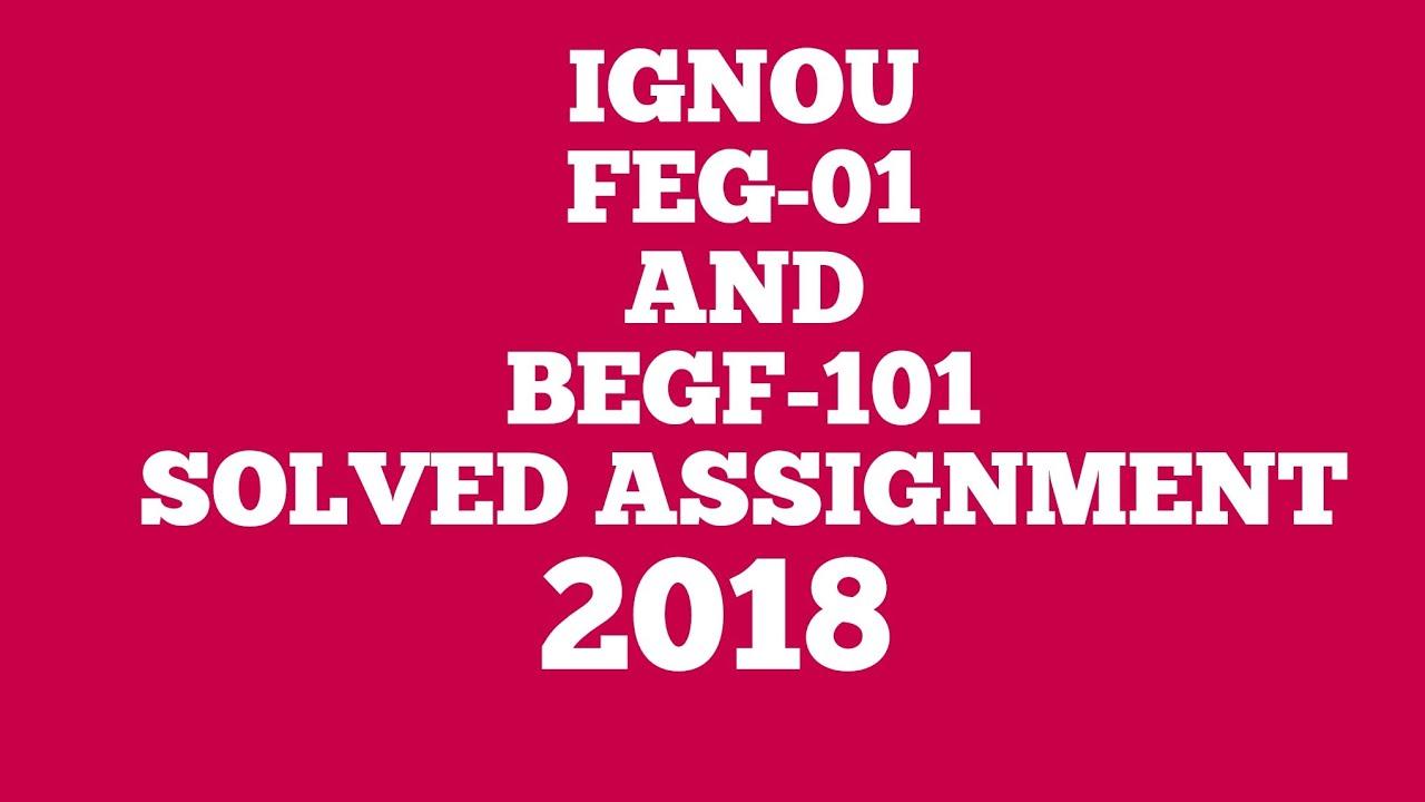 IGNOU Assignment 2018