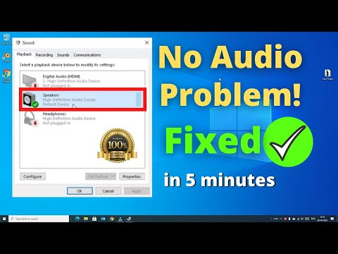 how to fix audio output device windows 10