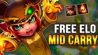 THE EASIEST HARD CARRY MID LANER - Annie Mid Gameplay - How to Carry #41 - League of Legends
