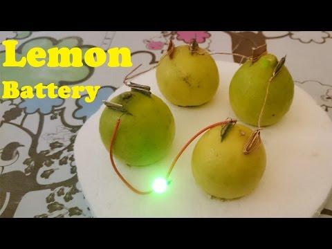 How to Glow LED using Lemon -- Lemon Battery