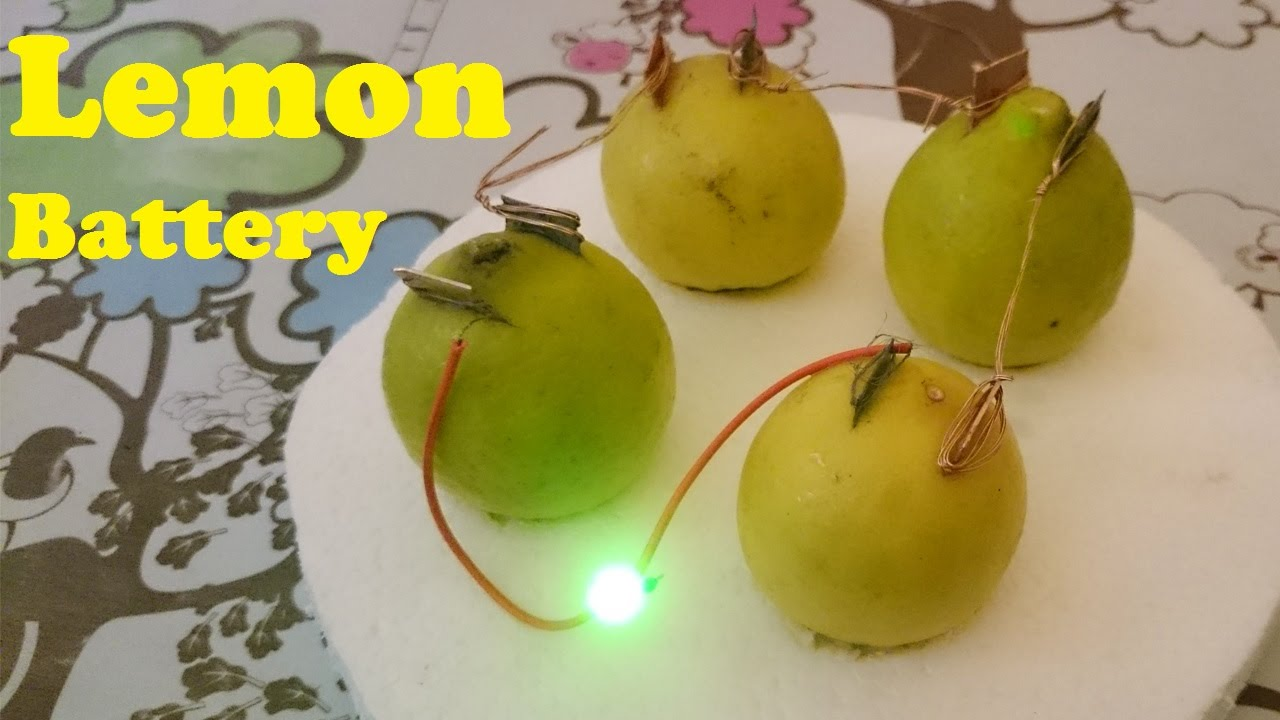 How To Glow Led Using Lemon Battery Youtube One Two And Then Three Leds Connected The Pack In Series