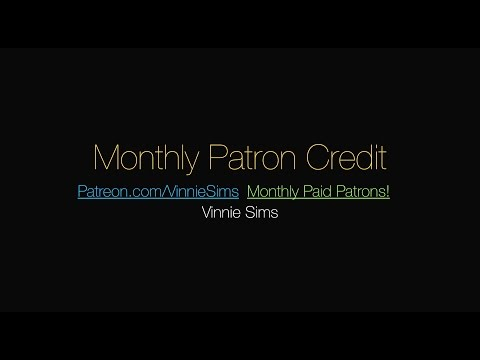 Monthly Patron Credit - August 2014