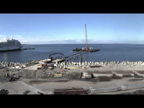 Construction of the new cruise jetty - Old City Harbour, Tallinn