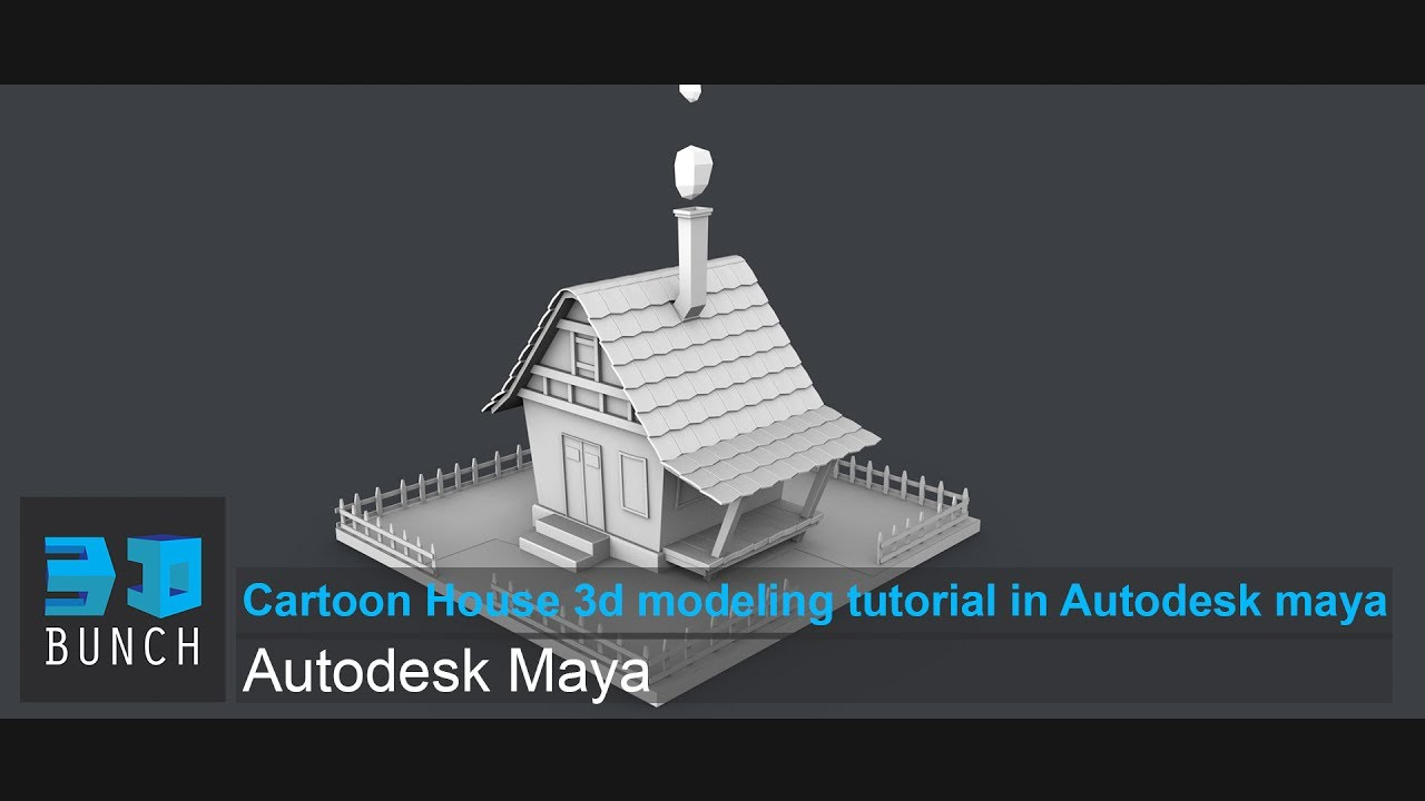 Cartoon house 3d modeling tutorial in autodesk maya youtube Simple 3d modeling online