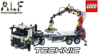 LEGO Technic 42043 Mercedes Benz Articulated Construction Truck   Lego Speed Build Review