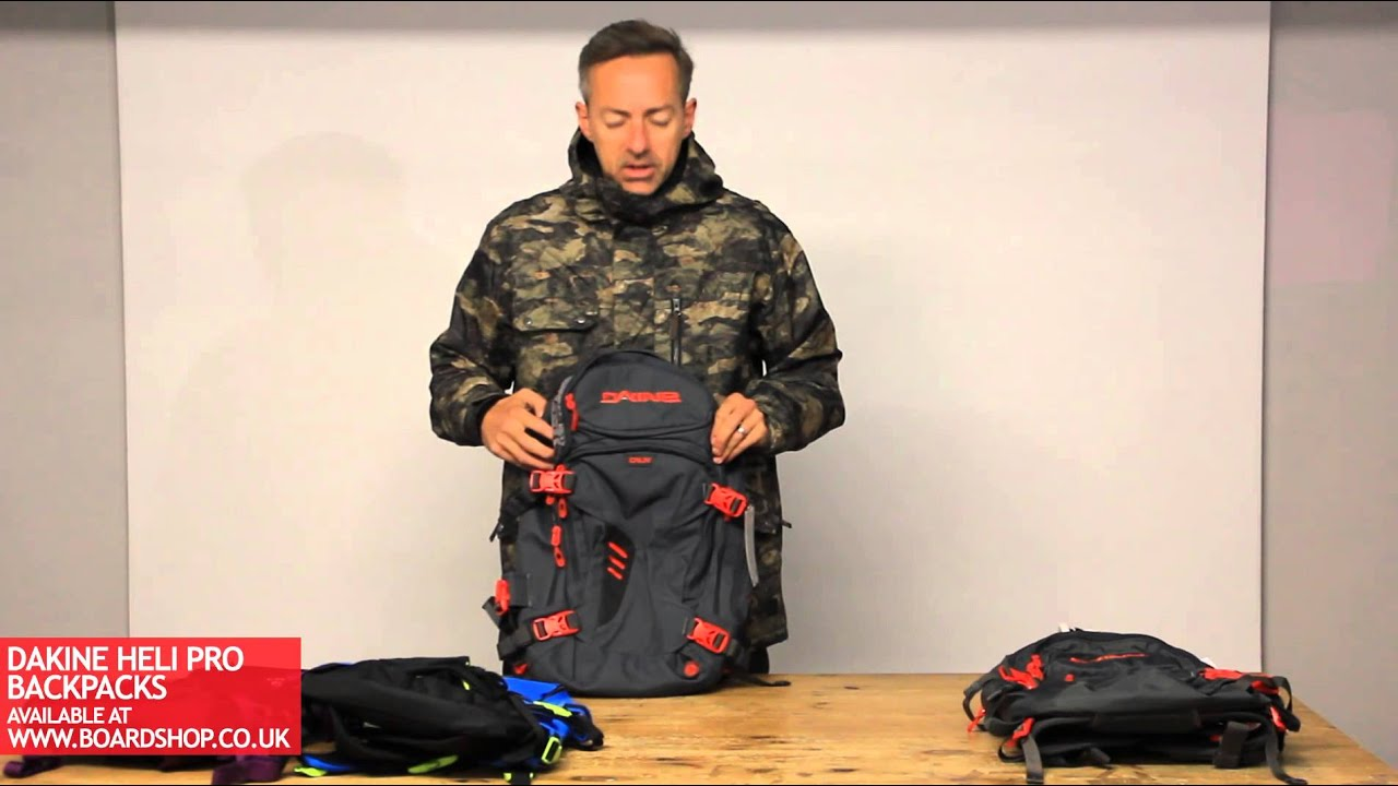DaKine Heli Pro Backpack range review - YouTube