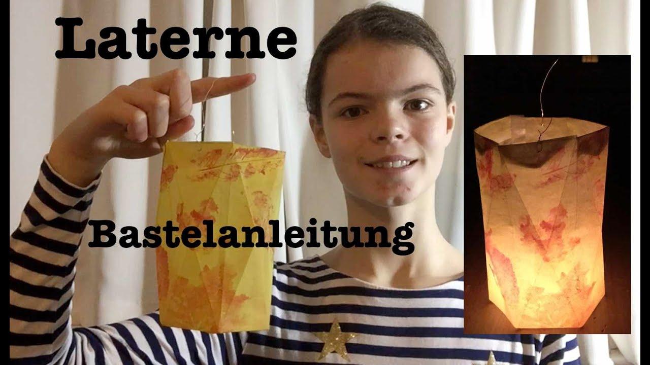 Einfache Diy Sankt Martins Laterne Bastelanleitung Hexagon Herbstlaub Laterne