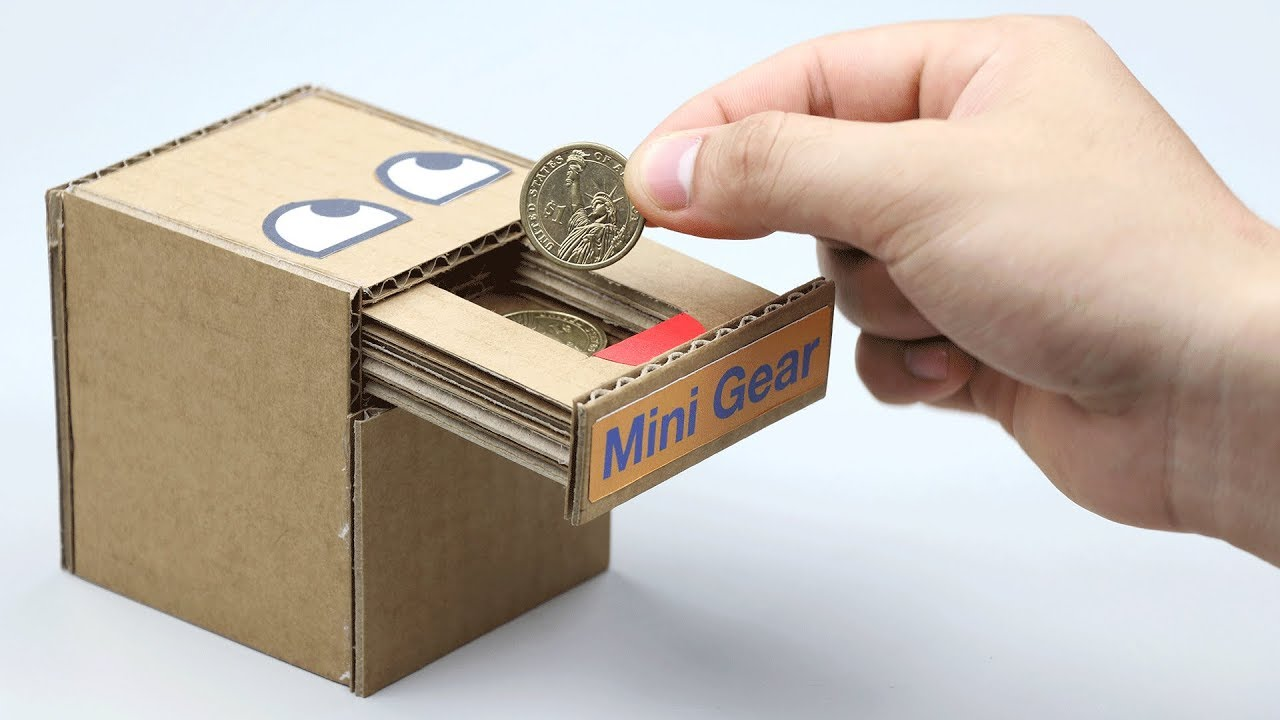 How to Make Coin Bank Box How