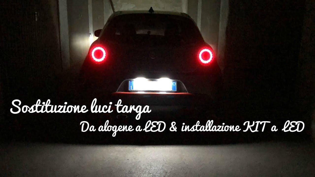 Lampadina Luci Targa : Sostituzione luci targa da alogena a led e installazione kit a led