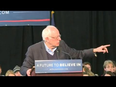 Watch: Sanders supporter breaks down during discussion on social security