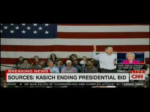 Breaking News John Kasich Drops Out, Suspends Campaign, Ends 2016 Presidential Race