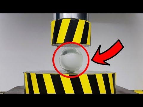 EXPERIMENT HYDRAULIC PRESS 100 TON vs GLASS BALL